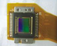 Front view of DSC digital camera lens sensor bonded by UV adhesive